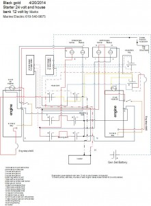 Engine room 24 volt starting systems